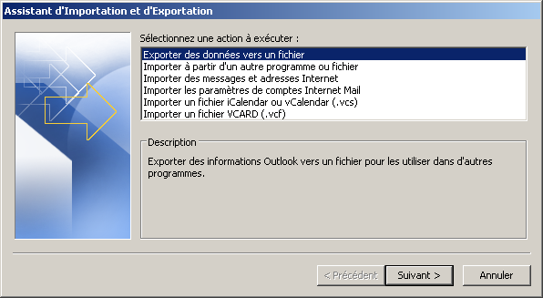 Configurer Outlook 2007 en synchronisé étape 2
