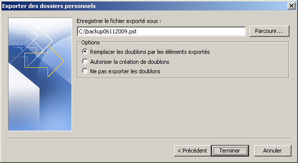 Configurer Outlook 2007 en synchronisé étape 5