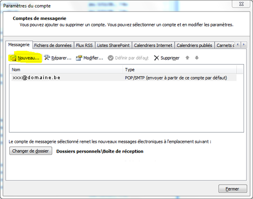 Configurer Outlook 2007 en synchronisé étape 7