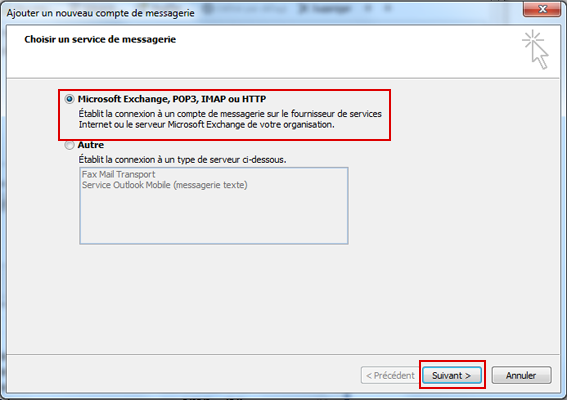 Configurer Outlook 2007 en synchronisé étape 8