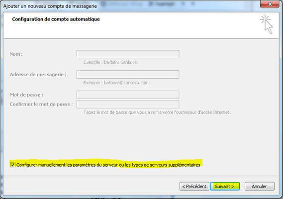 Configurer Outlook 2007 en synchronisé étape 9