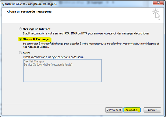 Configurer Outlook 2007 en synchronisé étape 10