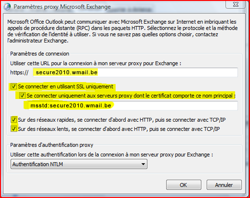 Configurer Outlook 2007 en synchronisé étape 13