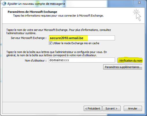 Configurer Outlook 2007 en synchronisé étape 14