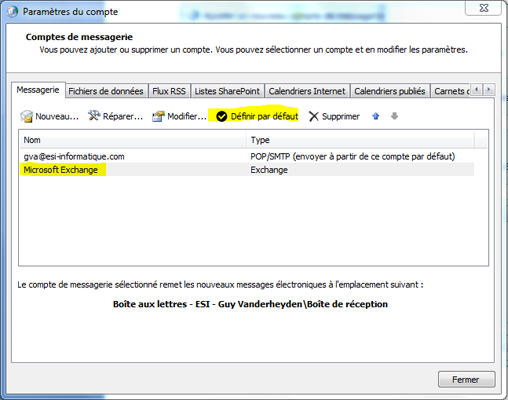 Configurer Outlook 2007 en synchronisé étape 17