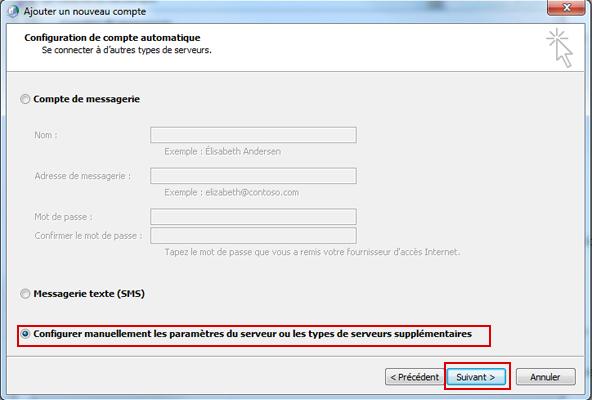 Configurer Outlook 2010 en synchronisé étape 10
