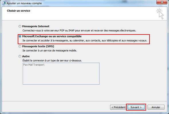 Configurer Outlook 2010 en synchronisé étape 11