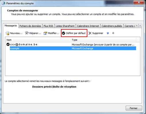 Configurer Outlook 2010 en synchronisé étape 17