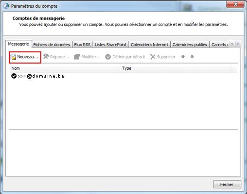 Configurer Outlook 2010 en synchronisé étape 8
