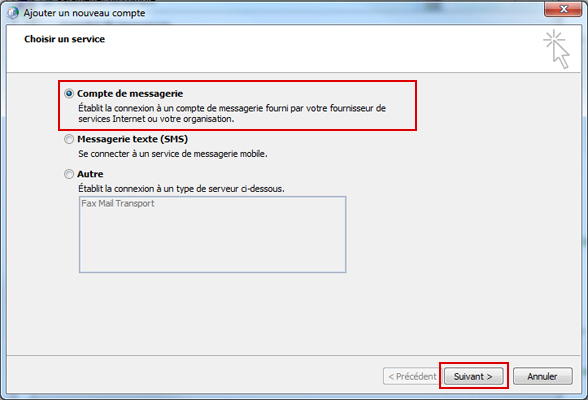 Configurer Outlook 2010 en synchronisé étape 9