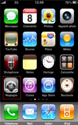 Configurer un iPhone en mode synchronisé étape 1
