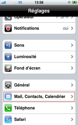 Configurer un iPhone en mode synchronisé étape 2