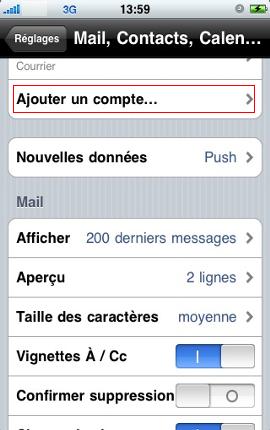 Configurer un iPhone en mode synchronisé étape 3