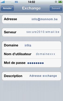 Configurer un iPhone en mode synchronisé étape 5