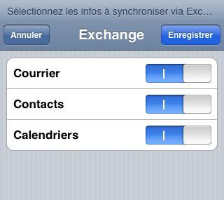 Configurer un iPhone en mode synchronisé étape 6