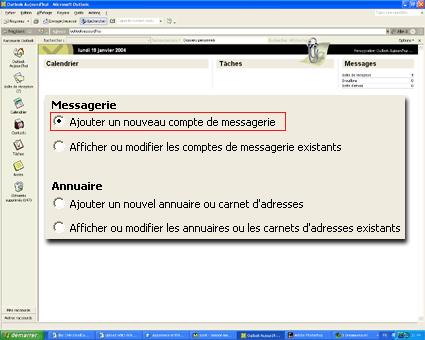 Configuration email d'un Outlook 2003 en POP3 part 2