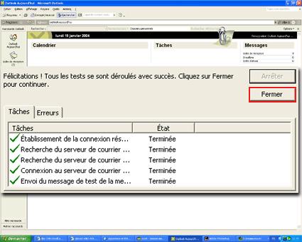 Configuration email d'un Outlook 2003 en POP3 part 7
