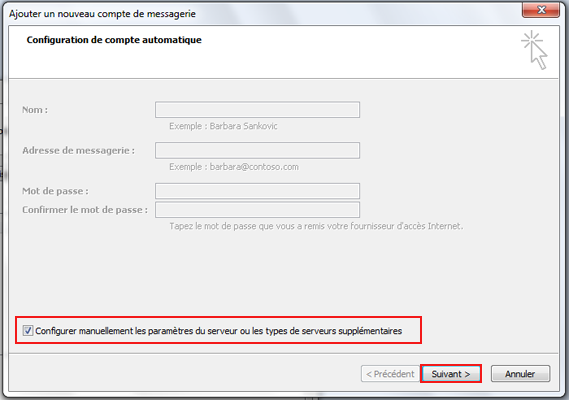 Configuration email d'un Outlook 2007 en POP3 part 2