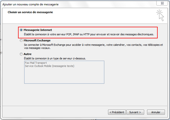 Configuration email d'un Outlook 2007 en POP3 part 3