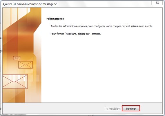 Configuration email d'un Outlook 2007 en POP3 part 7