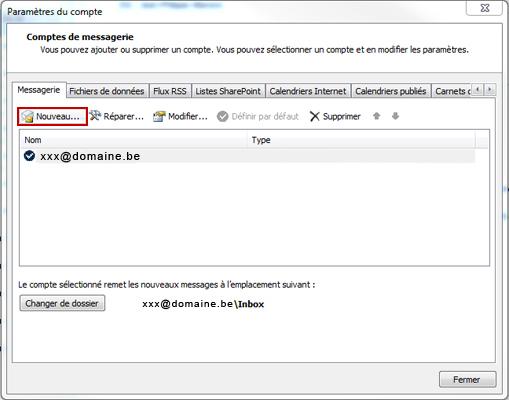 Configuration email d'un Outlook 2010 en POP3 part 2