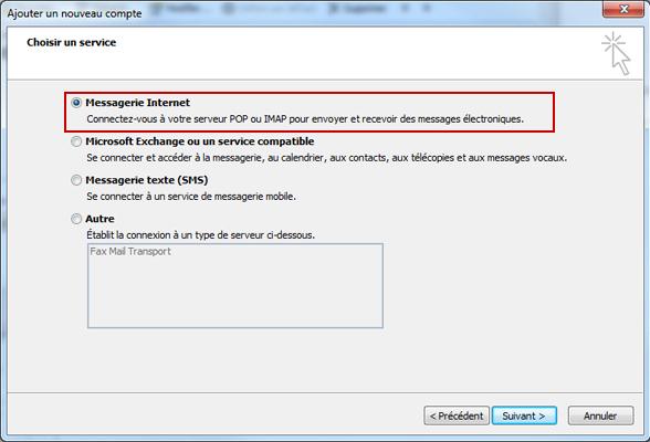 Configuration email d'un Outlook 2010 en POP3 part 5