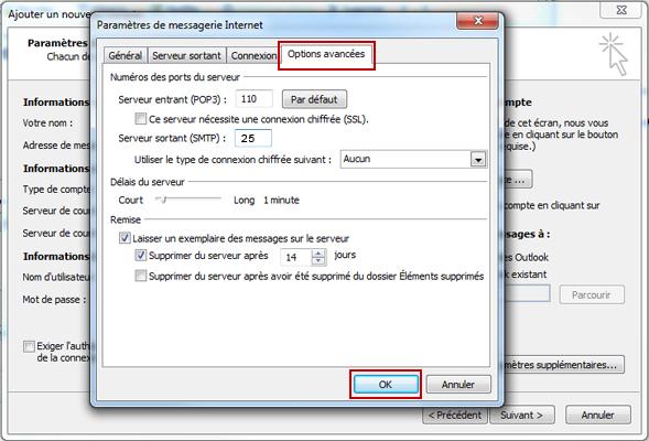 Configuration email d'un Outlook 2010 en POP3 part 8