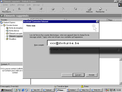 Configuration email d'un Outlook Express en POP3 part 4
