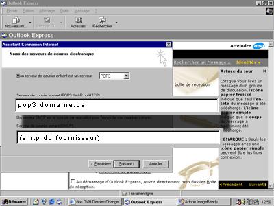 Configuration email d'un Outlook Express en POP3 part 5