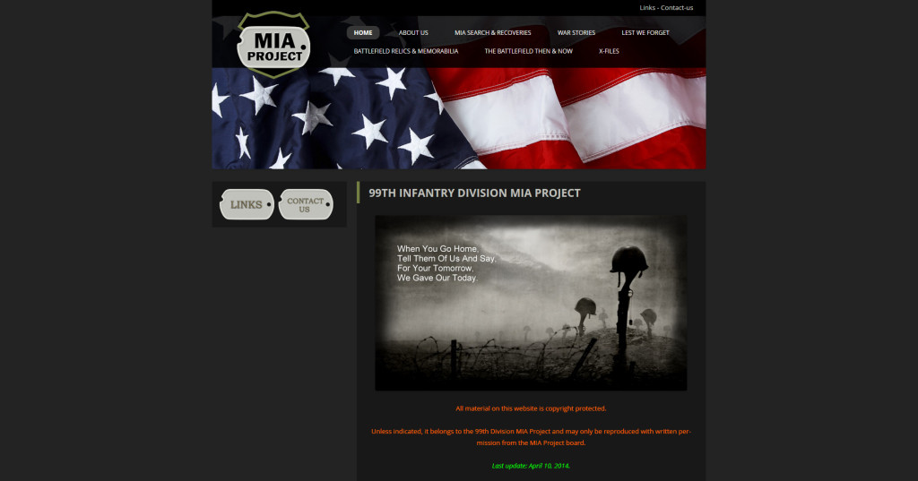 99th Infantry Division MIA Project